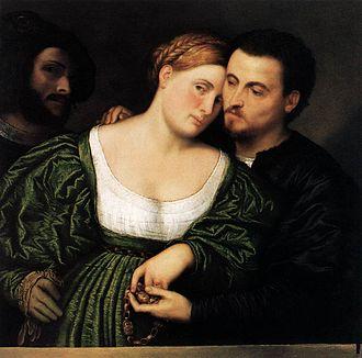 Paris Bordone - Venetian couple in love