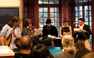 Kelly Writers House - Participants at a Kelly Writers House event honoring Gertrude Stein (photo thanks to Arielle Brousse)