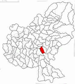 Location of Păsăreni