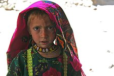 Pashai girl in Afghanistan, wearing distinctive Pashai clothing.jpg