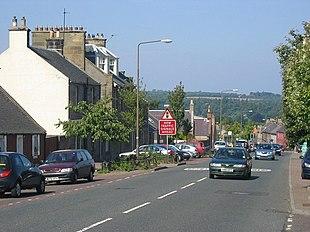 The A68 road through Pathhead
