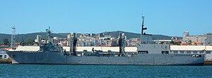 Spanish oiler Patiño - Patiño at the Spanish naval base at Ferrol