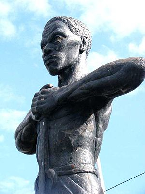 Morant Bay rebellion - Statue of Paul Bogle in Morant Bay, Jamaica