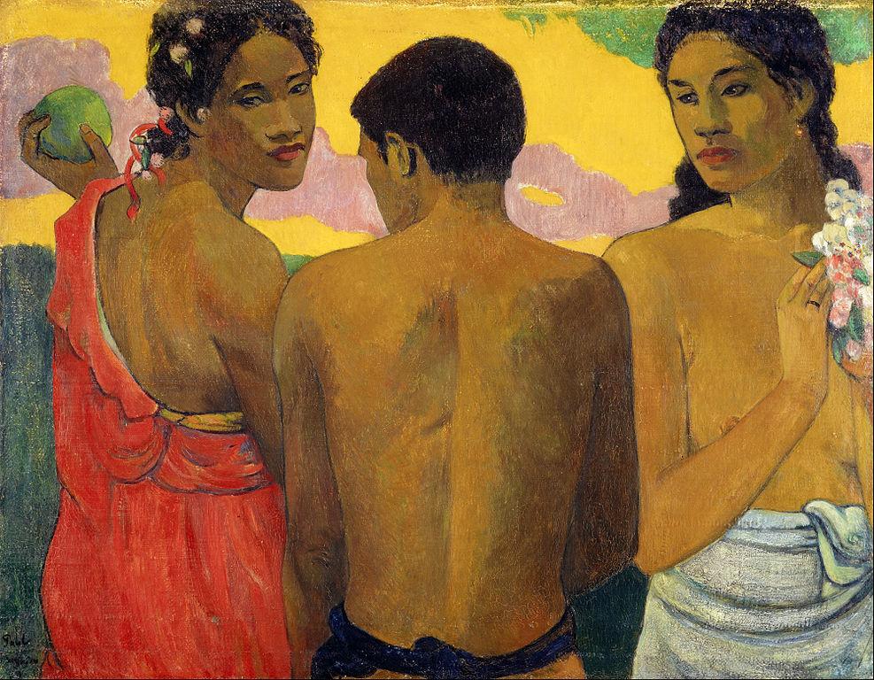 """""""Trois Tahitiens, ou Conversation"""" (1899) de Paul Gauguin à la Galerie Nationale d'Ecosse."""