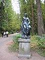 """Pavlovsk Park. Twelve tracks. Statue """"Euterpe"""".jpg"""