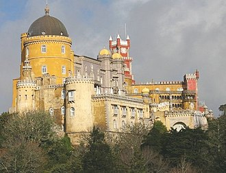Neo-romanticism -  Pena Palace in Sintra, Portugal one of the points of reference for Neo-Romantic architecture