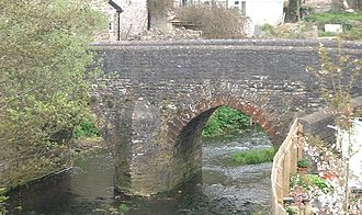 River Chew - Image: Pensford bridge