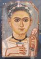 Periodo romano, ragazzo con ghirlanda di fiori in testa, 200-230 dc ca..JPG