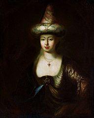 Portrait of a woman in oriental costume.