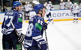 Petružálek and Bilalov 2011-12-04 Amur-Sibir KHL-game.jpeg