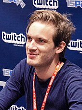 Felix Kjellberg, A.K.A PewDiePie is seen at a convention.