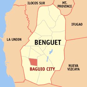 Localisation de Baguio
