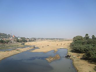 Phalgu - Phalgu River at Gaya