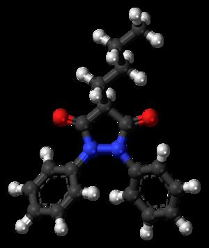 Phenylbutazone - Image: Phenylbutazone 3D balls