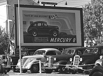Mercury Eight - 1939 Mercury Eight billboard