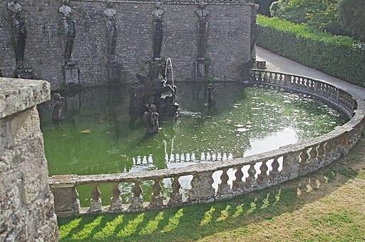 Photo Paolo Villa VR 2016 (VT) F0164126 Bagnaia, Villa Lante, fontane, Fontana del Pegaso