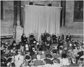 Photograph of President Truman delivering an address during ceremonies at the National Archives dedicating a new... - NARA - 200408.tif