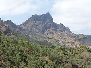 Pico de Antónia mountain in Cape Verde