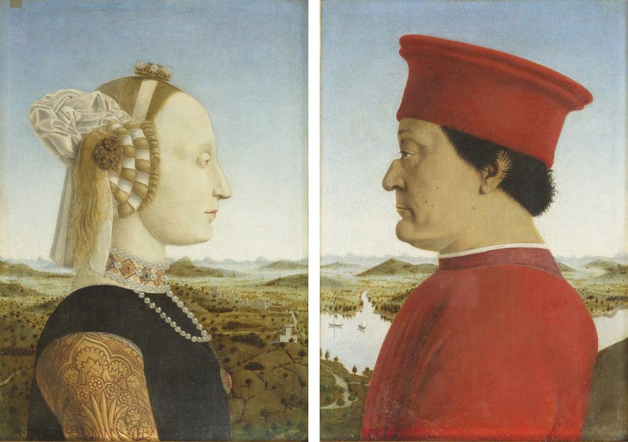 Пьеро делла Франческа: герцог и герцогиня Урбино