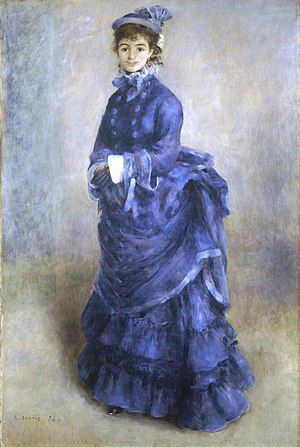 National Museum Cardiff - La Parisienne by Pierre-Auguste Renoir, one of the National Museum's most popular works