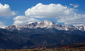 "Colorado Springs, Colorado - Pikes Peak, the easternmost ""14er"" in the United States"
