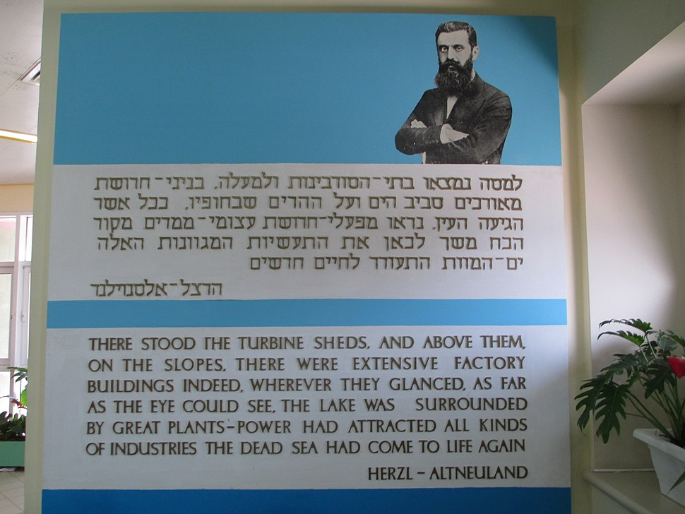 PikiWiki Israel 29785 Herzl vision on the Dead Sea