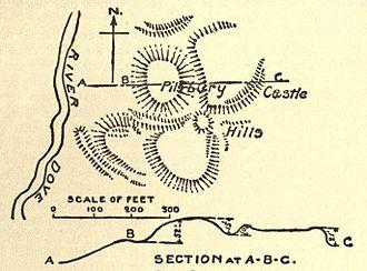 Pilsbury Castle - 1905 plan of Pilsbury Castle