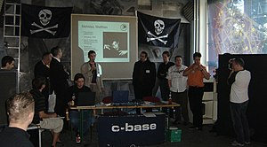 Pirate Party Germany - Inaugural meeting in 2006, at the c-base in Berlin (presentation of the board candidates)