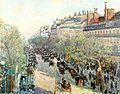Pissarro Camille, De Boulevard Montmartre bij avond.jpg
