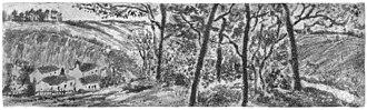 The Côte des Bœufs at L'Hermitage - Paysage en long, 1879.