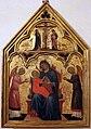 Pittore veneziano, madonna col bambino e due angeli, crocifissione e dolenti, 1350-1400 ca.jpg