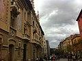 Plaça de Vic. Vic Square. Osona. Catalonian Flags. - panoramio.jpg