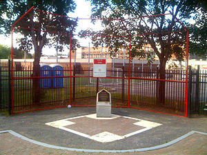 Montreal Royals - Royals and Jackie Robinson memorial at former location of Delorimier Stadium.