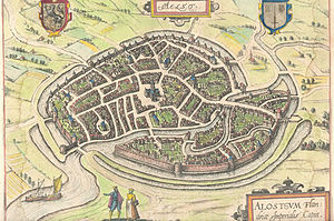 Capture of Aalst (1584) - Image: Plattegrond Aalst Guicciardini 1581