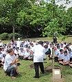 Pliant'tie du Tchêne du Chent'naithe La Preunmié Tou Saint Hélyi Jèrri 16 dé Mai 2011 13.jpg