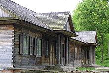 Maison en bois wikip dia - Construction en rondins empiles ...