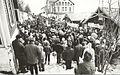 Political demonstration outside the office in Furulund, Sulitjelma.jpg