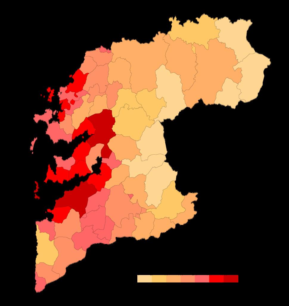 Pontevedra Densidad-2018