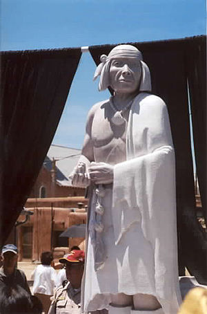 Popé - Popé statue at Ohkay Owingeh, New Mexico, May 2005
