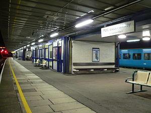Port Talbot Parkway railway station - Platform 2 in November 2008