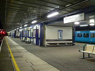 Port Talbot Parkway railway station - Platform 2 in November 2008