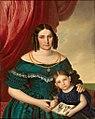 Porträtpaar 1H19Jh Dame mit kleinem Mädchen.jpg
