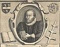 Portrait of Democritus Junior in Burton's Anatomy of Melancholy, 1628, 2nd edition.jpg