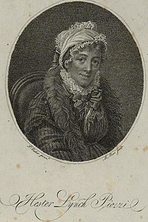 Hester Thrale Welsh author and salonnière