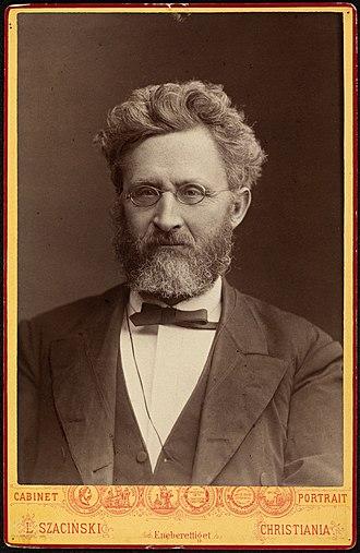 Carl Anton Bjerknes - Cabinet photo of Carl Anton Bjerknes in 1883