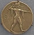 Poseidonia (paestum), statere con poseidone e il tridente, 500 ac. ca. 01.JPG