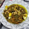 Poulet daghmira aux oeufs et amandes grillées.png