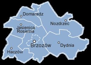 Brzozów County - Image: Powiat brzozowski