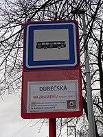 Průběžná, zastávka Dubečská, NAD.jpg