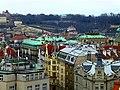 Prag - Blick vom Altstädter Rathausturm auf die Karls-Universität und Rudolfinum - Zobrazit od Starého věže radnice na Karlově univerzitě a Rudolfinum - panoramio.jpg